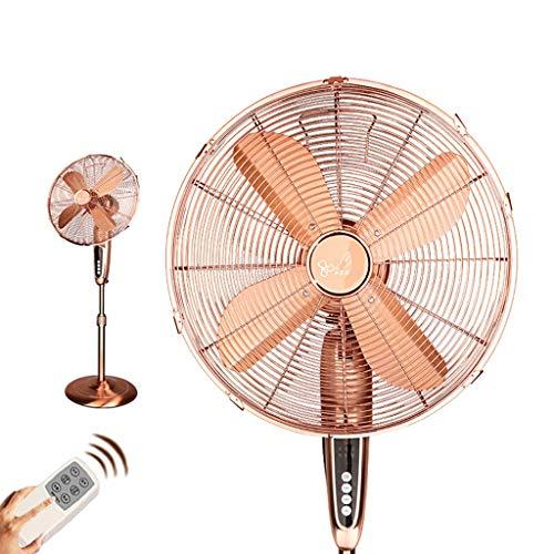 MMM @ 21-Zoll-europäischen Retro-Fernbedienung Bodenventilator, leise energiesparende Fernbedienung Timing Metallventilator Conditioner