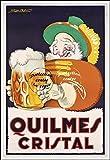 Herbé  Poster/Reproduction A3+(33x48cm) d'1 Affiche Vintage/Ancienne/Rétro BIèRE QUILMES Cristal
