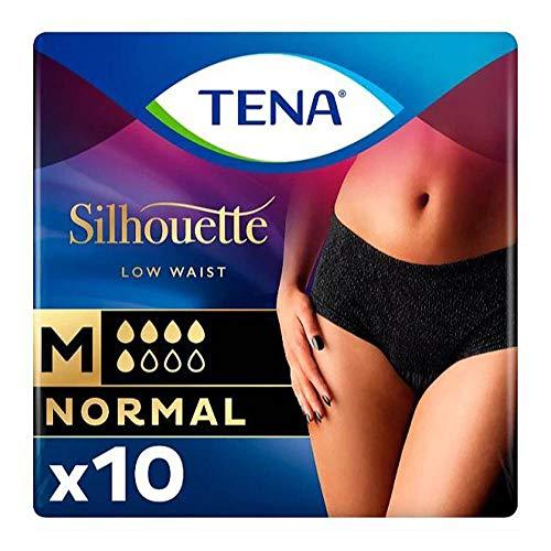Preisvergleich Produktbild Tena Silhouette Normal Noir Pads,  10 Stück