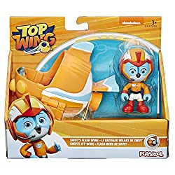 It's time to earn your wings Join Top Wing Academy cadet Swift on road-running rescue missions Includes 3-Inch posable Swift figure and Flash Wing vehicle; the right size for small hands Collect and play with all four figures and vehicles Rod, Swift,...