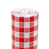 García de pou vichy manteles en rollo, papel, blanco y rojo, 1. 2 x 100 metros