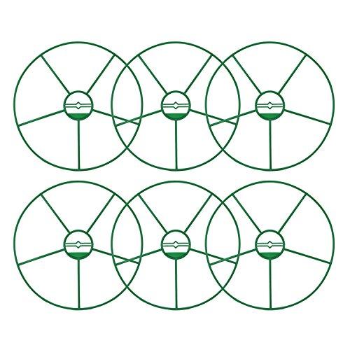 com-four® 6x Blumen- und Staudenhalter, für Blumen, Rankengewächse und Stauden, rund (06 Stück - Ø 29.5cm)