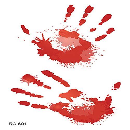 adgkitb Accesorios de Halloween atmósfera Terror Etiquetas engomadas del Tatuaje Herida Realista Sangre Cicatrices Tatuaje Tatuaje 25 10.5x6cm