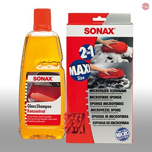 Sonax 04281000 - Champú concentrado (1 L, incluye esponja de microfibra)