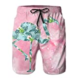 VLOOQ-HX Big Boy Shorts de Playa de Secado rápido Beach Flower Flower y Hawaii Swimsuit Shorts de Playa