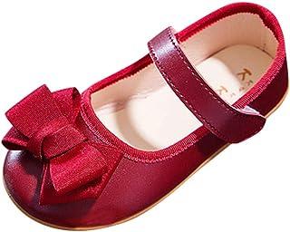 DolceTiger Ballerine Sandales Souple Fille Princesse Nœud Papillon Chaussure Ville Chaussures Noeud Fille Printemps Et Aut...