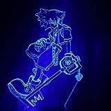 3D noche luz juego reino corazón Sora Keyblade figura niños LED noche luz colorida decoración LED para niños dormitorio 16 colores