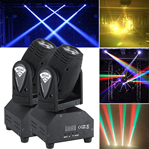 2x50W LED Mini Lichteffekt Bühnenlicht Moving Head Licht DMX512 Sound RGBW
