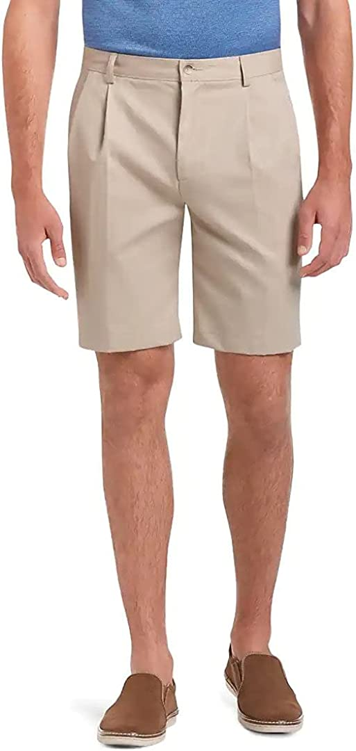 Jos A Bank Men's Traveler Collection Traditional Fit Pleated Front Twill Shorts