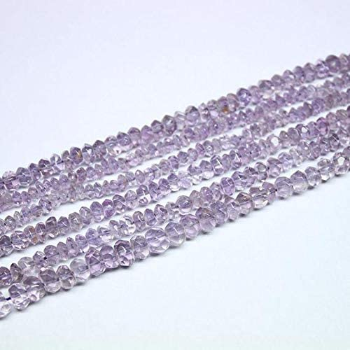 GEMS-WORLD Beads Gemstone 3 Strand Popular popular Pink Amethyst Selling and selling Faceted Natural
