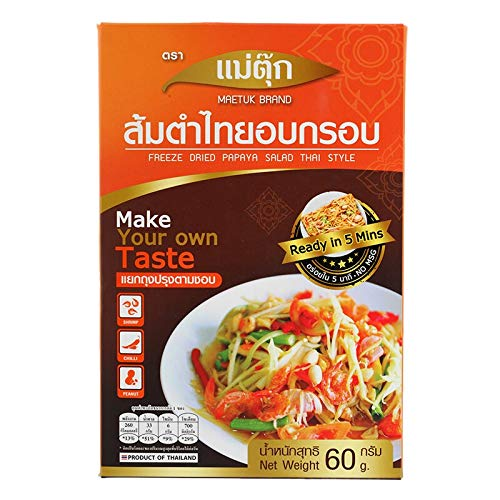 Freeze Dried Instant Papaya Salad Thai Style - Somtam Thai , Pap