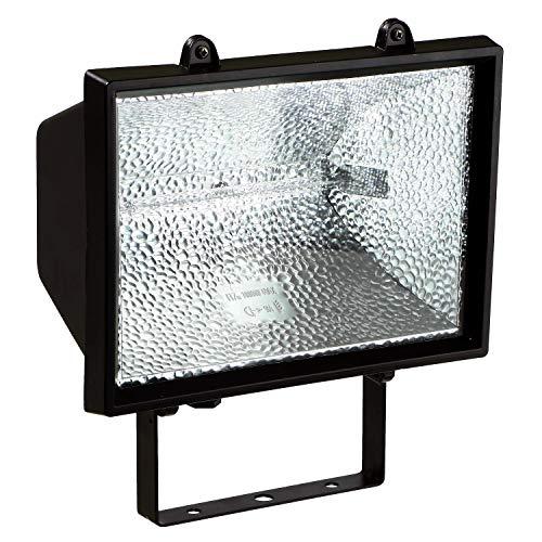 as - Schwabe Halogenstrahler - 400 W Halogen-Fluter geeignet als Baustrahler / Arbeitsleuchte – Energieklasse C - Halogenspot inklusive Leuchtmittel - Leuchte für den Außenbereich - Schwarz I 44060