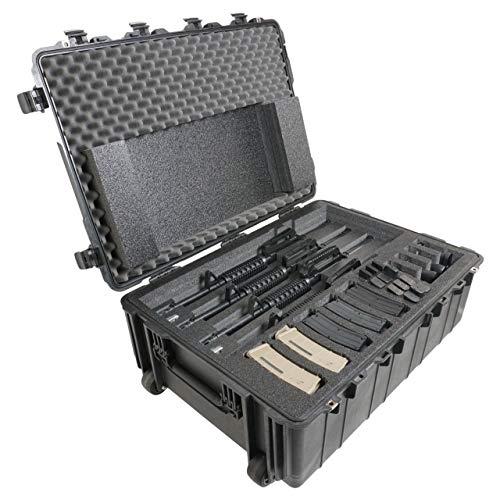 Case Club 4 Rifle & 4 Pistol Pre-Cut Waterproof Case with...