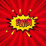 Elvin: Draw Your Own Comic Super Hero Adventures with this Personalized Vintage Theme Birthday Gift Pop Art Blank Comic Storyboard Book for Elvin | 150 pages with variety of templates