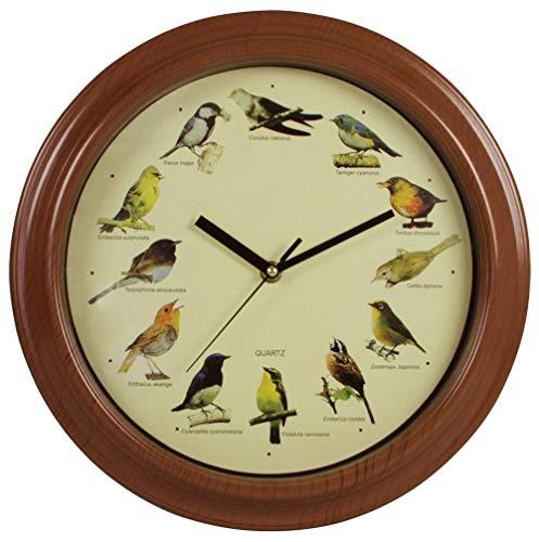 Wanduhr Vogelstimmen: Durchmesser ca. 25 cm, Lieferung ohne Batterien