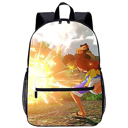 3D Tiere Print Daypack Schultasche mit großer Kapazität One Piece World Seeker-Unisex Schultasche Rucksack Freizeit Schulausflug -Größe: 45x30x15 cm/17 Zoll-Freizeitrucksack