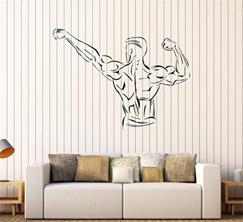 wandaufkleber 3d spiegel Muskeln Bodybuilder Fitness Gym Wandbild