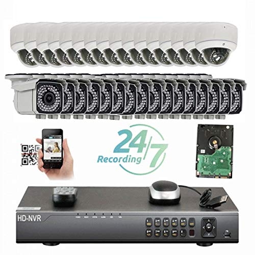Why Choose Amview Security 32CH 4K NVR Network IP Security Camera System - 32 x HD 2592x1920P 5.0 Me...