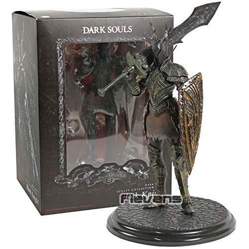 Nobranded Dark Souls Hero of Lordran Siegmeyer Dark Knight Faraam Artorias PVC Figura de acción Juguete Modelo Coleccionable-Caja Caballero Negro