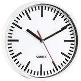 PEARL Wanduhr: Quarz-Bahnhofsuhr, 22,5cm Durchmesser (Quarzuhr)