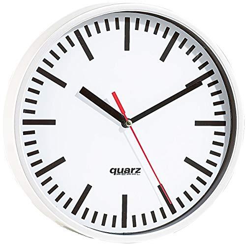PEARL Küchenuhr: Quarz-Bahnhofsuhr, 22,5cm Durchmesser (Quarzuhr)