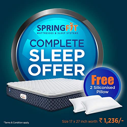 SPRINGFIT ENJOY STRESS FREE SLEEP Proactiv Jump Bonnell Spring Queen Mattress
