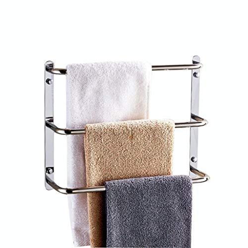Riel de toalla de acero inoxidable Toalla de toalla Varilla colgante Rack de toallas de perforación libre (Tamaño: 45 cm) Leyue (Size : 35cm)