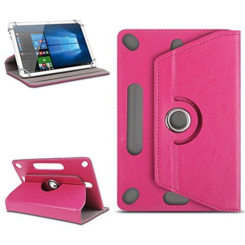 Nauc Custodia universale per tablet da 10-10,1 pollici, con funzione leggio, girevole a 360°, lavorazione di alta qualità, disponibile con diversi motivi rosa Pink