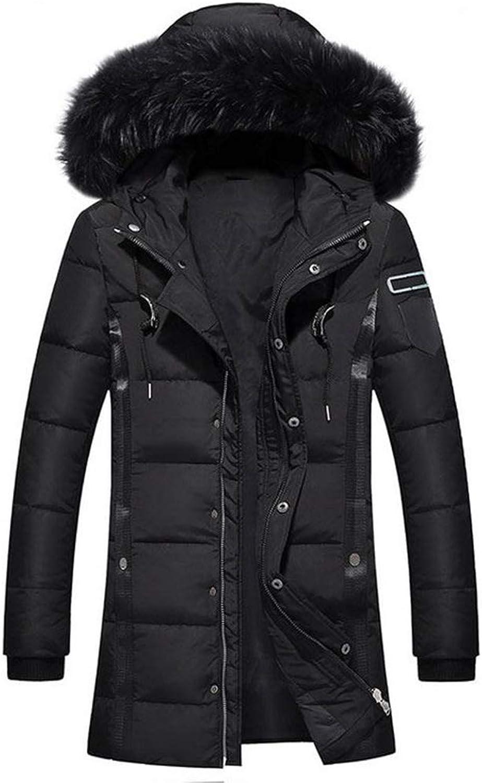 SUA ONG Duck Down Jacket Men -30 Degree Winter Warm Jacket Coats Hooded Fur Collar Windproof Men Outerwear -66 (color   BLACK, Size   L)