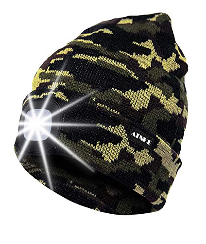 LED Lighted Beanie Hat - USB Rechargeable & Waterproof