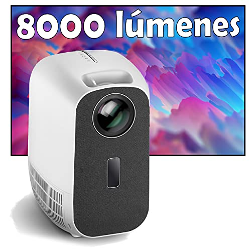 Proyector 4K, Luximagen UHD300, 8.000 Lúmenes, Contraste 100.000:1 ,Fullhd Nativo, Cine en Casa 300', Audio Digital SPDIF, Keystone 4D, Preparado para PS5, Xbox Series, Zoom Digital