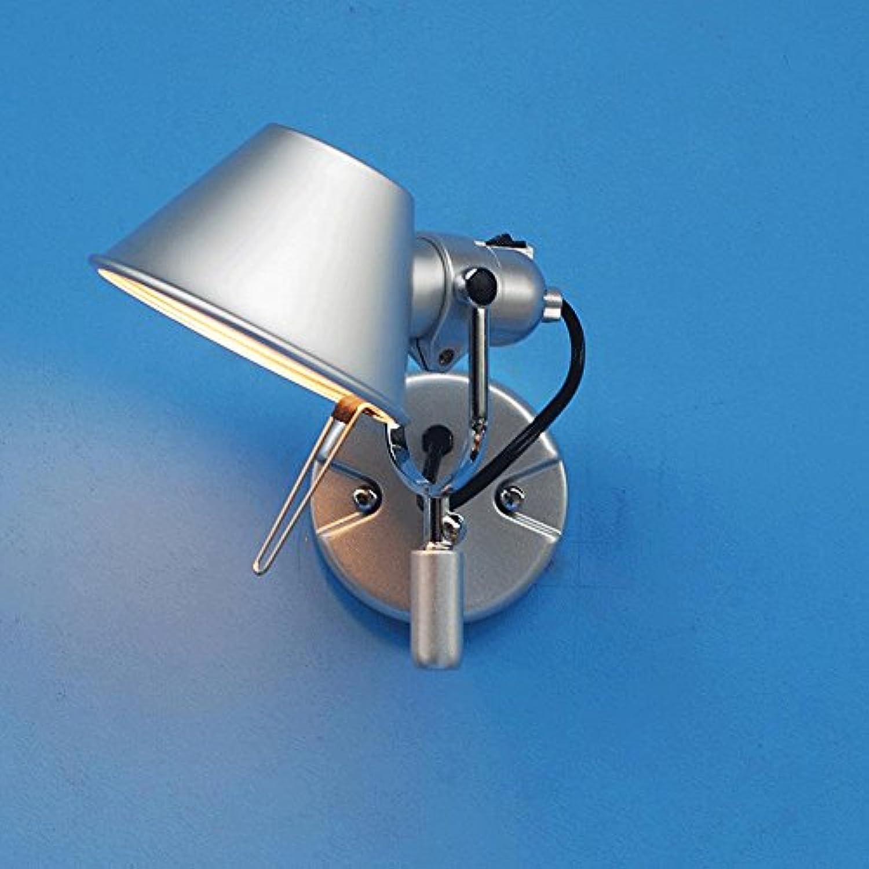 Einstellbare Wandleuchte Nordic Aluminium Wandleuchte Silber Schlafzimmer Nachtbeleuchtung Cafe Restaurant Wanddekoration Lampe