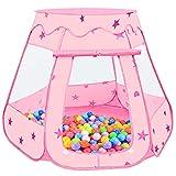 MOOKLIN ROAM Tienda de Campaña Casa Plegable Infantil, 115 x 95cm Piscina de Bolas Castillo con Bolsa de Tela para Interior y Exterior, Regalo de Juguete Niños (Bolas No Incluidas) (Rosa)