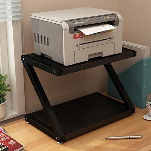 Guo Shop- Support de stockage multifonctionnel de bureau, support d'imprimante, support de scanner, support de téléphone, support de stockage en bambou, support de stockage de ménage de bureau Armoire