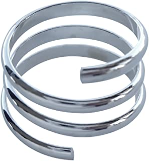 Sterling Silver Coil Wrap Yoga Adjustable Toe Ring Above The Knuckle Midi