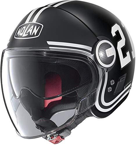 Nolan N21 Visor Quarterback Casco de inyección negro/blanco XS (55)