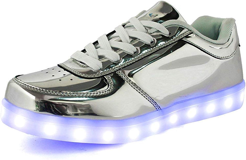 Duckmole Men Women Unisex USB Charger LED Lights Luminous Sports Trainer shoes Sneaker Couples shoes