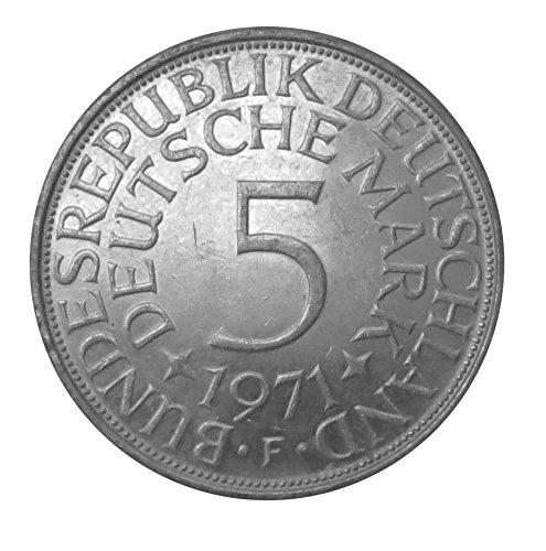 5 DM Silberadler 1971 Die bundesdeutsche Legende Der Heiermann