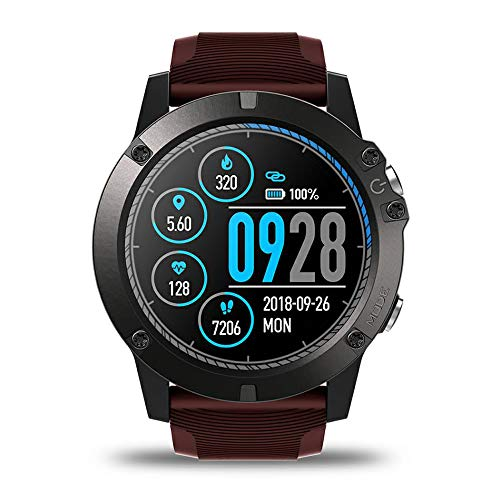 Guangmaoxin Zeblaze Vibe 3 Pro Smartwatch Digitale Sportivo, Impermeabile IP67, Bluetooth Smart Watch con Monitor Della Frequenza e Cardiaca Fitness Tracker (Red)