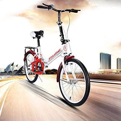 20 Zoll Fahrrad Faltrad Citybike, rutschfeste, Verschleißfeste Reifen, Empfindliches Bremssystem, Leicht Und Robust