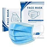 【SAFE & RELIABLE 3 LAYER FACE MASK】: Breathable face masks are made of high quality facial mask non-woven fabric. Outer layer is effective dust waterproof; Middle layer stop particles; Inner skin-friendly layer absorb the moisture from the breath, wh...