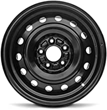 Road Ready Car Wheel For 2003-2008 Mazda 6 16 Inch 5 Lug Black Steel Rim Fits R16 Tire - Exact OEM Replacement - Full-Size Spare