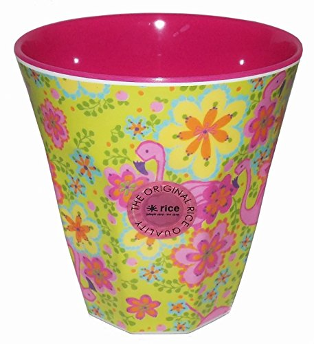 Cup en m̩lamine motifs flamants roses Rice