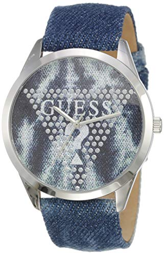 Guess Damen Analog Quarz Uhr mit Leder Armband W1144L1