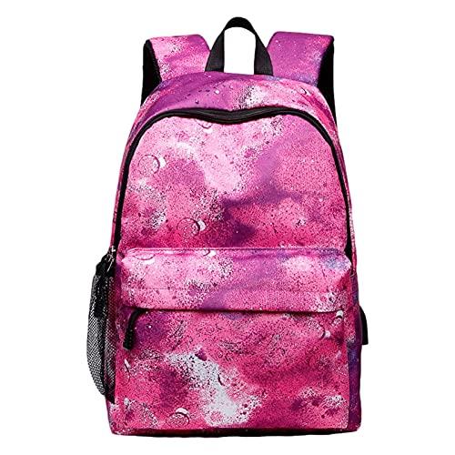 HMMHHE Mochila de la Escuela de la Mochila del portátil de Viaje, la Bolsa única de la Escuela Galaxy con USB Puerto de Carga, Laptop Rucksack College Bookbag para Adolescentes niños niños