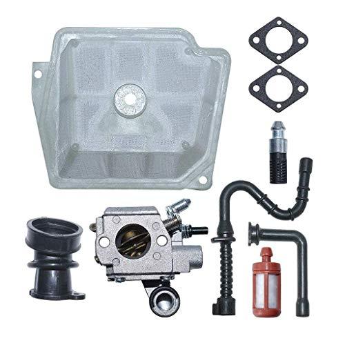 Fried Suave C3R-S236 carburador Carb Kit de Juntas for Stihl MS361 Motosierra MS 361 Sustituir la Motosierra del carburador de la Motosierra Cortasetos reemplazo Escabroso