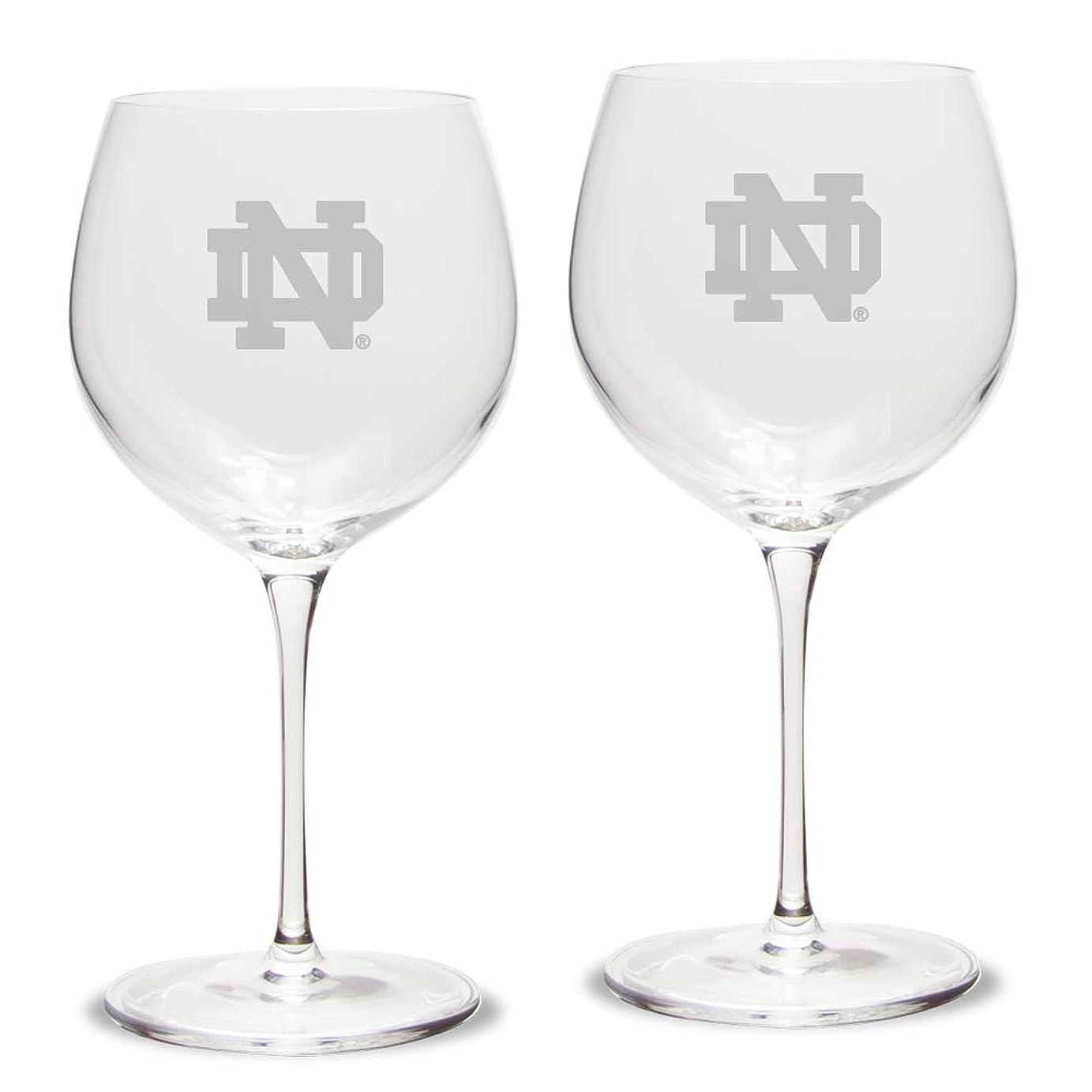統計的カフェ熱心なNCAA ユニセックス ルイジ ボルミオリ 18オンス チタン レッド ワイングラス - 2個セット