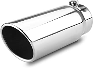 5 Inch Inlet Exhaust Tip 6 Inch Outlet 15 Inch Long Tailpipe Universal For Trucks Car Stainless Steel Bolt-On …