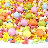 Streusel Osterei bunt Mix 180g Zuckerstreusel Ostern Frühling Plätzchen | STREUSEL GLÜCK | Sprinkles für Tortendeko Geburtstag Blumen Party Muffins Cupcakes Cake Pops