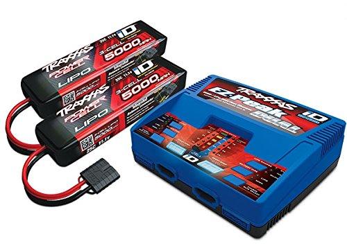 Traxxas 2990Innen Schwarz, Blau, Rot–Ladegerät (Innen, Lithium Polymer, Nickel Metall Hydrid, Lithium Polymer, 500–500mA, 100–240V, schwarz, blau, rot)